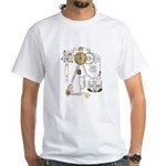 Steampunk Contraption White T-Shirt