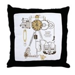 Steampunk Contraption Throw Pillow