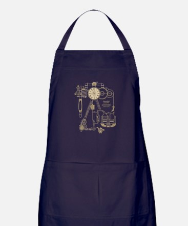 Steampunk Contraption Apron (dark)