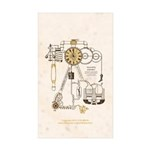 Steampunk Contraption Sticker (Rectangle 10 pk)
