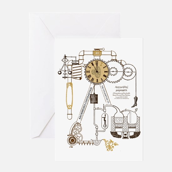 Steampunk Contraption Greeting Card
