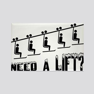 Need A Ski Lift Rectangle Magnet