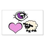 Eye Love Ewe Sticker (Rectangle 50 pk)