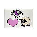 Eye Love Ewe Rectangle Magnet (100 pack)