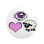 """Eye Love Ewe 3.5"""" Button (100 pack)"""