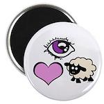 """Eye Love Ewe 2.25"""" Magnet (10 pack)"""