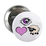 """Eye Love Ewe 2.25"""" Button (100 pack)"""