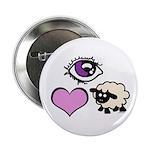 """Eye Love Ewe 2.25"""" Button (10 pack)"""