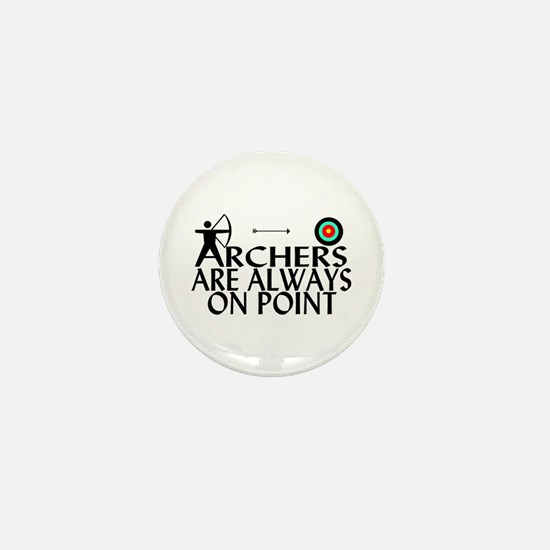 Archers On Point Mini Button