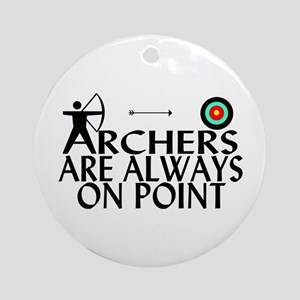 Archers On Point Ornament (Round)