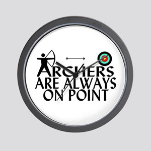 Archers On Point Wall Clock