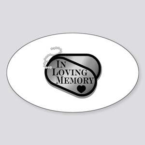 In Memory Dog Tags Sticker (Oval)