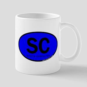 Blue SC Oval South Carolina Mug