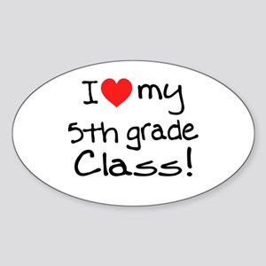 5th Grade Class: Sticker (Oval)