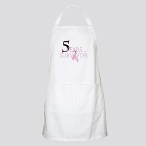 5 Years Breast Cancer Survivor Apron