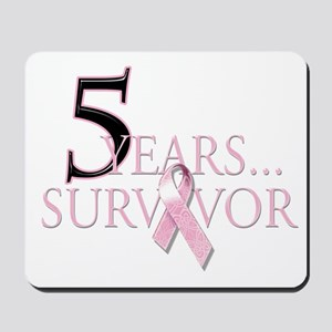 5 Years Breast Cancer Survivor Mousepad