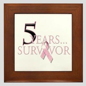 5 Years Breast Cancer Survivor Framed Tile