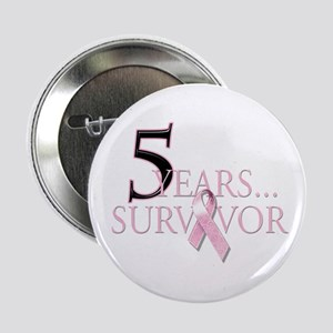 "5 Years Breast Cancer Survivor 2.25"" Button"