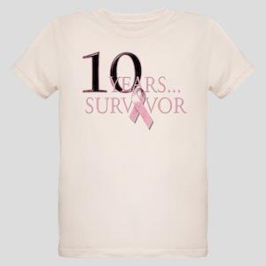 10 Years Breast Cancer Survivor Organic Kids T-Shi