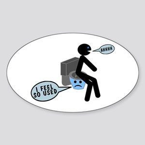 Used Toilet Sticker (Oval)