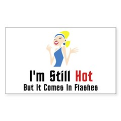 I'm Still Hot But It Comes In Flashes Decal