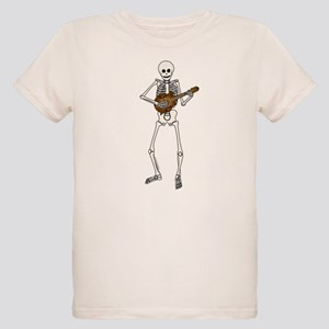 Skeleton Mandolin Organic Kids T-Shirt