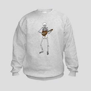 Skeleton Mandolin Kids Sweatshirt