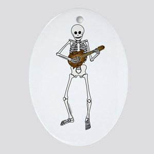 Skeleton Mandolin Ornament (Oval)