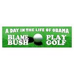 Blame Bush, Play Golf Bumper Sticker