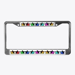 Multicolor Yin Yang Turtles License Plate Frame