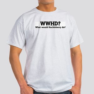 What would Huckleberry do? Ash Grey T-Shirt