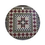 Hitching Post Quilt Trail Square Ornament (Round)