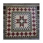 Hitching Post Quilt Trail Square Tile Coaster