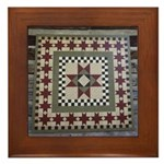 Hitching Post Quilt Trail Square Framed Tile