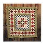 Hitching Post cloth quilt trail square Tile Coaste