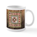 Hitching Post cloth quilt trail square Mug