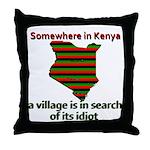 Somewhere in Kenya Throw Pillow