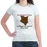 Somewhere in Kenya Jr. Ringer T-Shirt