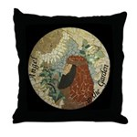 Angel Gabriel in the Garden Throw Pillow