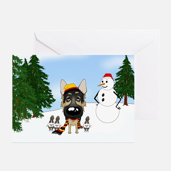 German Shepherd Holiday Greeting Cards (Pk of 10)