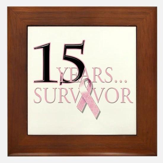 15 Year Breast Cancer Survivor Framed Tile