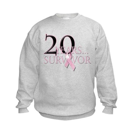 20 Year Breast Cancer Survivor Kids Sweatshirt