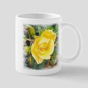 Lavish Yellow Rose Mug