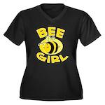 BEE Girl Women's Plus Size V-Neck Dark T-Shirt