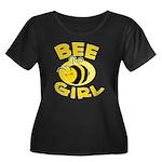BEE Girl Women's Plus Size Scoop Neck Dark T-Shirt