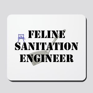 Feline Sanitation Engineer Mousepad