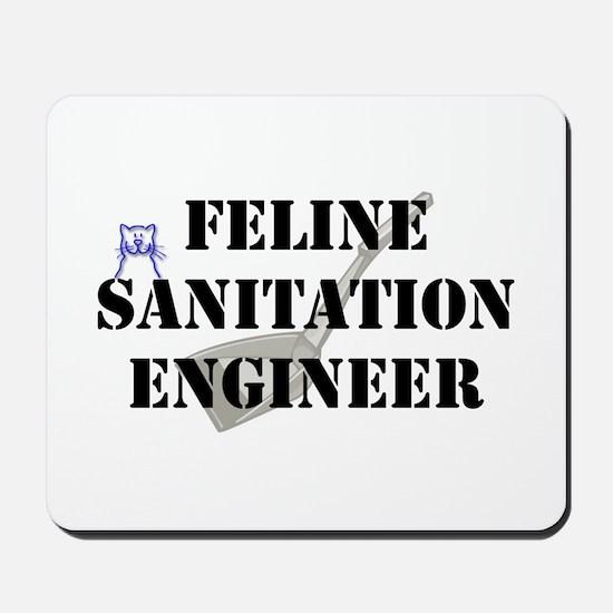 Feline Sanitation Engineer Mousepad