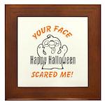 Halloween Scary Face Framed Tile