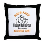 Halloween Scary Face Throw Pillow