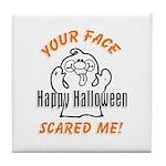 Halloween Scary Face Tile Coaster